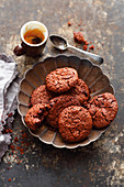 Grilled nougat cookies with cranberries