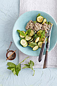 Buckwheat with a courgette medley