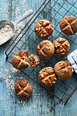 Vegan potato rolls with chestnuts