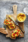Lentil spread with sweet potatoes