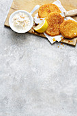 Vegetarian celeriac escalope with apple horseradish