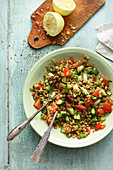 Freekeh tabbouleh with vegetables