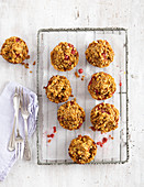 Wholemeal muffins with redcurrants
