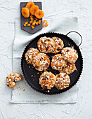Kamut bean balls with apricots (vegan)