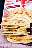 Empanadas at Etla Market in Oaxaca de Juarez, Mexico