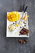 Fondue Ingredients on Forks