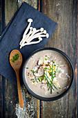 Champignon-Lauch-Suppe