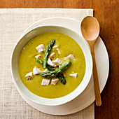 Bowl of Chicken Asparagus Soup