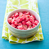 Watermelon salad with lime dressing