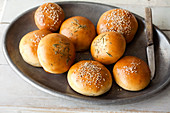 Assortment of bread rolls
