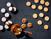 Argentina sandwich biscuits with creamy Dulce de Leche