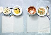Four quick soups
