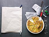 Vegetable and ricotta frittata