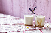 Lavender and nut milk with chamomile