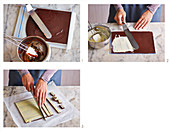 Sliced pralines being made