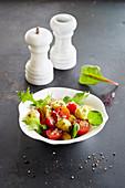 Tomaten mit frittiertem Mozzarella