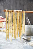Homemade pepper pasta