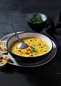 Curried sweetcorn soup