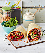 Wraps with a healthy vegetable mix