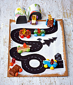 Chocolate bar racing cars