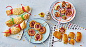 Sweet puff pastry snacks for kids