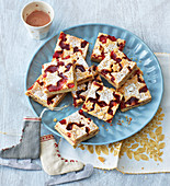Linzer squares with currant jelly