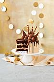 A chocolate and hazelnut cake