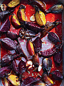 Braised beetroot and golden beets