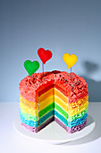 Rainbow cake (trend from the 2010s)