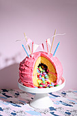 Piñata cake (trend from the 2010s)