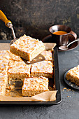 Nut and orange tray bake cake