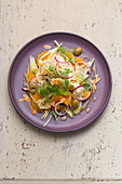 Fennel and orange salad with olives and almonds