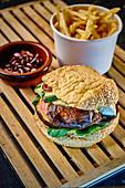 A portobello burger to take away