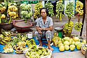 Vietnamesische Bananenverkäuferin