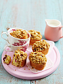 Raspberry crumble friands