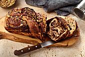 Dairy-free chocolate babka