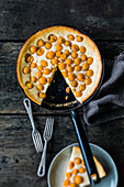 Pan-baked baseless physalis cheesecake