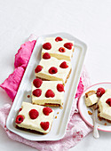 Lemon, Raspberry & Ginger Cheesecake Slice