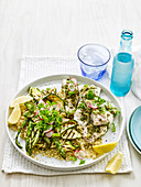 Lemon and Herb Fish with Quinoa Salad