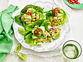 Satay Chicken Lettuce Cups