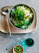 Green bomb snapper poke bowl