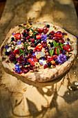 Summer berry pizza