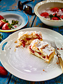 Ricotta and strawberry strudel