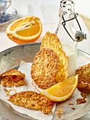 Quick crunchy orange florentines