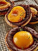 Quick peach melba tartlets