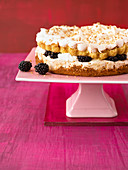 A blackberry meringue cake