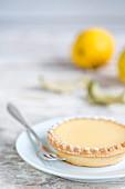 A lemon cream tart