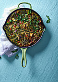 Vegetable and pesto frittata