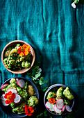 Kartoffelsalat mit Erbsenpesto