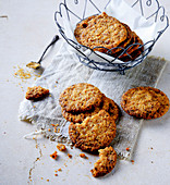 Oat cookies with dried fruits